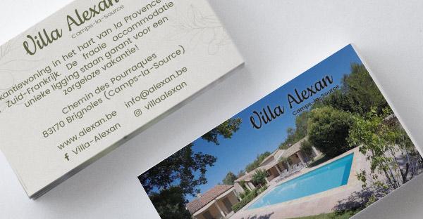 Villa Alexan - logo & visitekaartje refresh