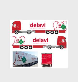 Delavi - Opfrissen logo en huisstijl