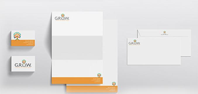 G.R.O.W. - logo en huisstijl