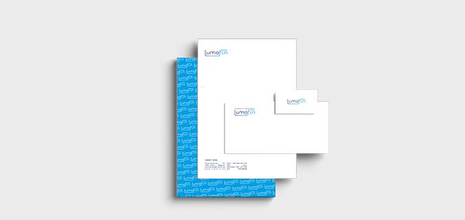 Lumofin - logo en huisstijl