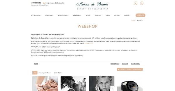 Webshop Maison De Beauté - Ruiselede