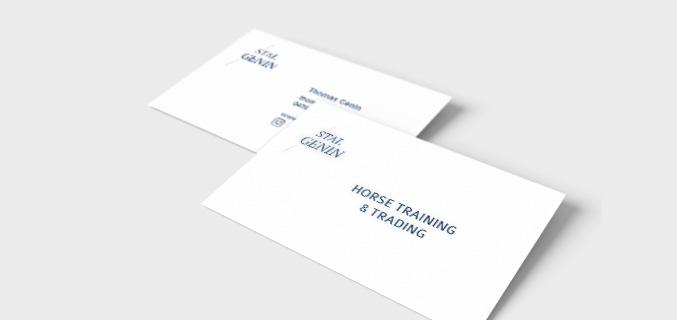 Stal Genin - ontwerp naamkaartje