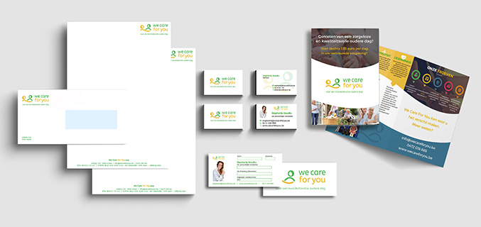 We Care For You - logo en huisstijl